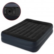Intex Zvýšená nafukovací postel s polštářem PVC 152x203x42cm černá 64124