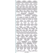 Nail Diva Professional Nail Diva Skabelon Stickers - Corner Shapes 1 Ark