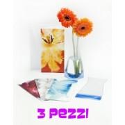 Set di Vasi pieghevoli per fiori 3 pezzi fantasia VIOLA - vaso pieghevole
