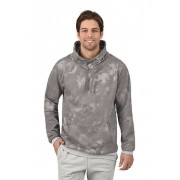 Trigema Herren Sweatshirt Batik-Muster Größe: XS Material: 70 % Baumwolle, 30 % Polyester Farbe: grau-melange
