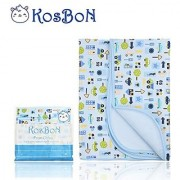 Kosbon Extra Large (40 x 30 ) Infant Baby Deluxe Flannel And Bamboo Fiber Cotton Change Pad Waterproof Cartoon Pattern Diaper Changing Pad For Home And Travel (L Size Car)