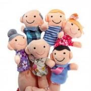Happy Toys dedo de la familia de la felpa - multicolor (6PCS)