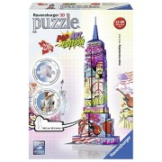 Ravensburger - 12599 - Puzzle 3D Empire State Building Pop Art - 216 Pièces