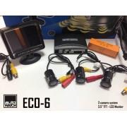 "Asistenta la Parcare AUTOWATCH ECO-6 cu 3 Camere Video si Monitor LCD 3.5"""