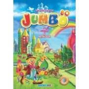 Carte de colorat Jumbo cu animale si abtibilduri