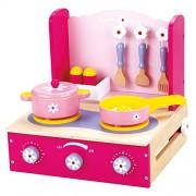 Bino 33 x 29 x 30 cm Pretend Play Cooker Set with Accessories (10-Piece, Multi-Colour) by Bino