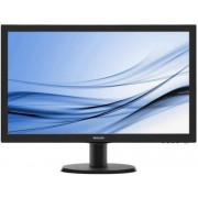 "Monitor IPS LED Philips 23.8"" 240V5QDSB/00 Full HD (1920 x 1080), VGA, DVI-D, HDMI, 5 ms GTG (Negru) + Bitdefender Antivirus Plus 2017, 1 PC, 1 an, Licenta noua, Scratch Card"