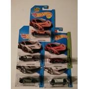 Hot Wheels Lamborghini set of 5! Sesto Elemento in Grey and White, Veneno in Red, Orange and Silver! by Mattel