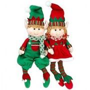 Elf Plush Christmas Stuffed Toys- 18 Boy and Girl Elves (Set of 2) Holiday Plush Characters