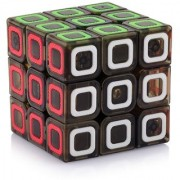 SHANAVAS STORES Qiyi MoFangGe Dimension Speed Cube 3x3 Stickerless Smooth Magic Cube Puzzles Transparent Bl