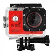 22 TFT % 2.0 12MP 1080p camara de accion deportiva DV con Wi-Fi % 2CTF - % rojo 2B negro