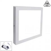 LED Paneel / Downlight Set 12w 6000k Helder Wit Vierkant Opbouw Slim Spatwaterdicht