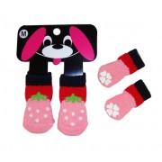 Mini calzini FRAGOLINA per cane/gatto con antiscivolo