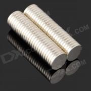 15 x 3mm NdFeB Neodymium Magnet cylindre circulaire bricolage Puzzle jeu - argent (50 PCS)
