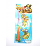 Reckonon Magnetic Fishing Game Series Plastic Toy for Kids with Fishing Rod & Fishes (Multicolour)