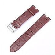 Kissmart Genuine Leather Watch Band Strap Bracelet for Motorola Moto 360 Smart Watch (Coffee)