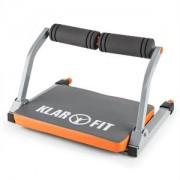 KLARFIT ABHATCH, gri / portocaliu, aparat AB CORE, aparat penru abdomen, echipament de fitness versatil (CSP9- Abhatch)