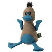 Hunter Dog Toy Canvas Bird, Brown/Blue