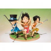 Figurine One Piece Figuarts Zero - Luffy Ace Sabo Set De 3 Figurines 9cm
