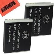 BM Premium Pack Of 2 NB6L NB-6L NB-6LH Batteries For Canon PowerShot S120 SX170 IS SX260 HS SX280 HS SX500 IS SX510 HS SX520 HS SX530 HS SX540 HS SX600 HS SX610 HS SX700 HS SX710 HS ELPH 500 HS D10 D20 D30 Digital Camera
