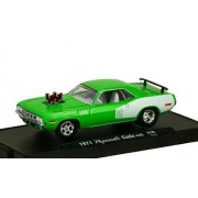 Plymouth Hemi Cuda 440 Tuning, light green/white, 1971, Model Car, Ready-made, M2 Machines 1:64 by Plymouth