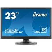 iiyama ProLite X2380HS-B1 23' LED LCD 1920x1080 IPS 250 cd/m² 5M:1 ACR speakers VGA DVI & HDMI 5ms TCO6