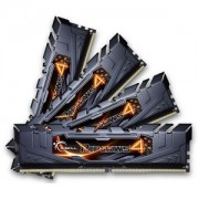 Memorie G.Skill Ripjaws 4 Black 16GB (4x4GB) DDR4, 2400MHz, PC4-19200, CL15, Quad Channel Kit, F4-2400C15Q-16GRK