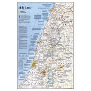 Wandkaart Holy Land – Israël, 53 x 80 cm   National Geographic