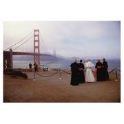 Pope at The Golden Gate Tarjeta de felicitación de cumpleaños