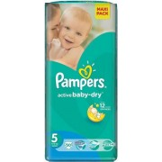 Scutece Pampers Active Baby 5 Junior Value Pack 11-18Kg (50)