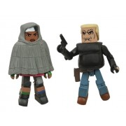 The Walking Dead Minimates: Series 4 Michonne and Bruce Action Figura