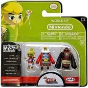 World of Nintendo Micro Land The Legend of Zelda: Windwaker HD Tetra King of Hyrule and Gannondorf Figures
