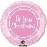 On Your Christening Girl Foil Balloon