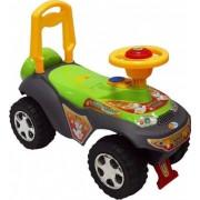 Baby Mix lábbal hajtható zenélő és világító autó gyerekeknek zöld színben