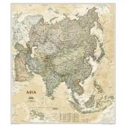 Wandkaart Azië, politiek & antiek, 84 x 96 cm | National Geographic