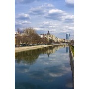 Bucharest View Over Dambovita River Journal: 150 Page Lined Notebook/Diary