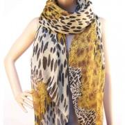 RAYFLECTOR Dámský šátek s leopardím vzorem