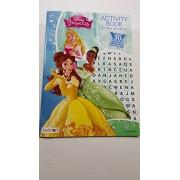 Disney Princess Flash Cards Activity Book Word Search Journal Pencils & Pencil Sharpener Bundle