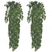 vidaXL Изкуствен бръшлянов храст 90 см, 2 броя