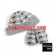 Walking Mum - Шапчица и ръкавички за новородено, Walkie collection