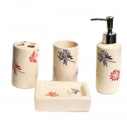 Set de baie, clasic, cu 4 produse din ceramica