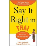 Say it Right in Thai by Epls