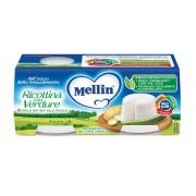 Mellin Formaggino - Formaggino Ricottina con Verdure - Confezione da 2 vasetti da 80 g