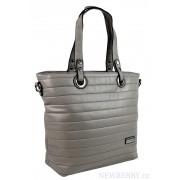 Prošívaná elegantní kabelka na rameno YH1605 středně šedá