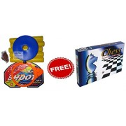 Buy Basket ball kit Adjustable with Stand for kids play playing hanging board and Get Chess Set Free By House Of Gifts