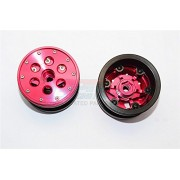 Aluminium+ Plastic Beadlock Weighted Wheels With Weight Holder & Bearings Suitable For All 2.2'' Tires - 1Pr Set Red