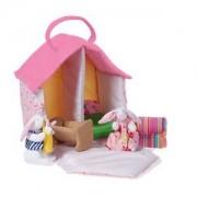 oskar&ellen; Unisex Dolls and doll houses Pink Bunny Doll House