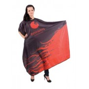 Hairway Kadeřnická pláštěnka Hairway 136 x 160cm - černočervená (37071) + DÁREK ZDARMA