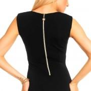 Kimi&Co KIMI Luxusní dámské společenské šaty zdobené řetízky černé - S