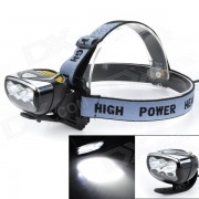 High Power Marsing 6 x 3535 Cool White 3000lm 3-Mode LED bici de la luz / faro (4 x 18650)